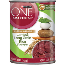 Purina One Wholesome Lamb & Rice Entree Can Dog Food