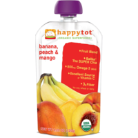 Happy Tot Organic Superfoods Bananas, Peaches & Mangos Baby Food