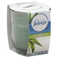 Febreze Candle Febreze Scented Candle Meadows & Rain Air Freshener (1 Count, 4.3 oz) Air Care