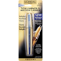 L'Oreal Paris Voluminous Million Lashes Waterproof Mascara 630 Blackest Black