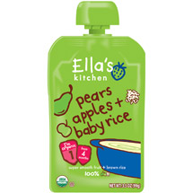 Ella's Kitchen Pears Apples & Baby Rice Baby Food
