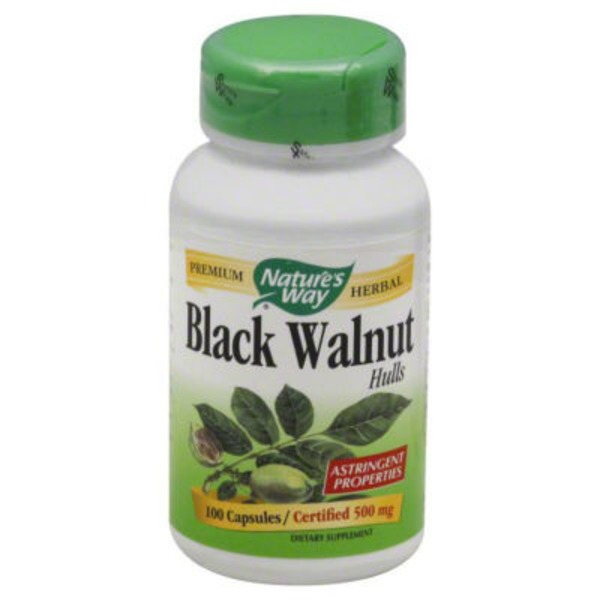 Nature's Way Black Walnut, Hulls, 500 mg, Capsules
