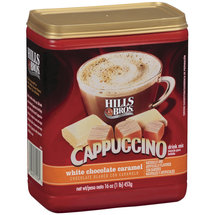 Hills Bros. White Chocolate Caramel Cappuccino Drink Mix