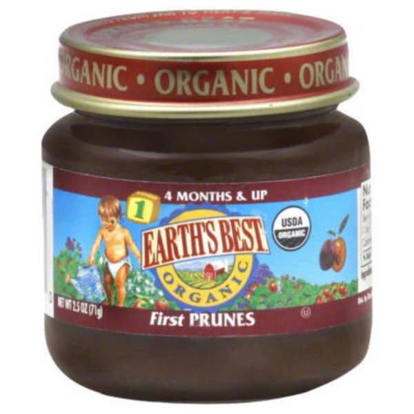 Earth's Best Organic Stage 1 First Prunes Baby Food