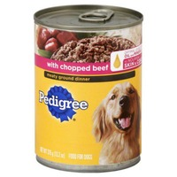 Pedigree Meaty Ground Dinner with Chopped Beef Wet Dog Food
