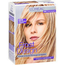 L'Oreal Frost & Design Champagne For Light Blonde To Light Brown Long Hair H85 Hair Frost