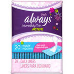 Fresh Always Incredibly Thin Active Regular Clean Scent Liners