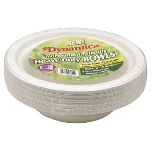 Dynamic Environment Friendly Heavy Duty 13.5 oz Compostable Bowls