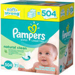 Pampers Natural Clean Wipes Refills
