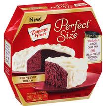 Duncan Hines Perfect Size Red Velvet Dream Cake Mix & Cream Cheese Frosting Mix