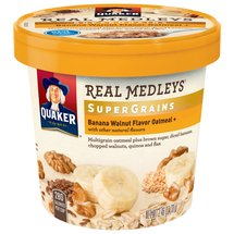 Quaker Real Medleys Super Grains Banana Walnut Flavor Instant Oatmeal