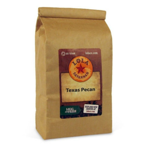 Lola Savannah Texas Pecan Decaffeinated Ground Coffee
