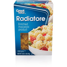 Great Value Radiatore Pasta