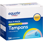 Equate Assorted Absorbency Unscented Tampons