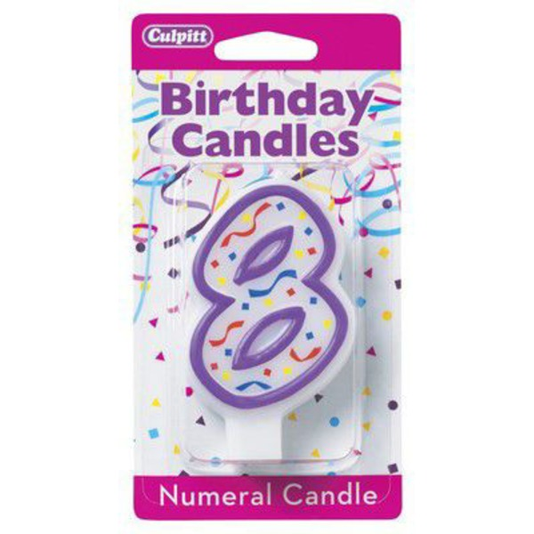 Culpitt Birthday Candles Numeral Candle 8