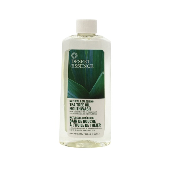 Desert Essence Tea Tree Oil Mouthwash, with Essential Oil of Spearmint