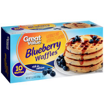 Great Value Blueberry Waffles