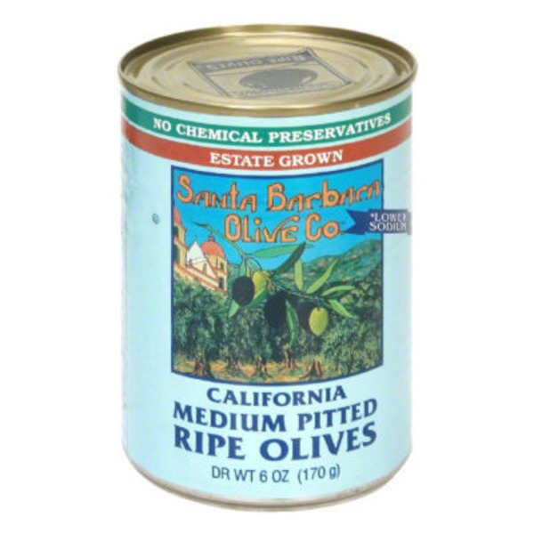 Santa Barbara Olive Co. Medium Pitted Olives