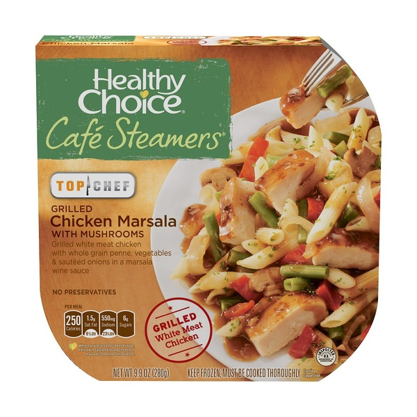 Healthy Choice Top Chef Grilled Chicken Marsala with Mushrooms Cafe Steamers