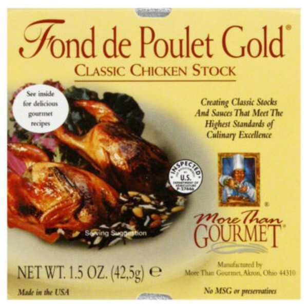More Than Gourmet Fond De Poulet Gold Stock