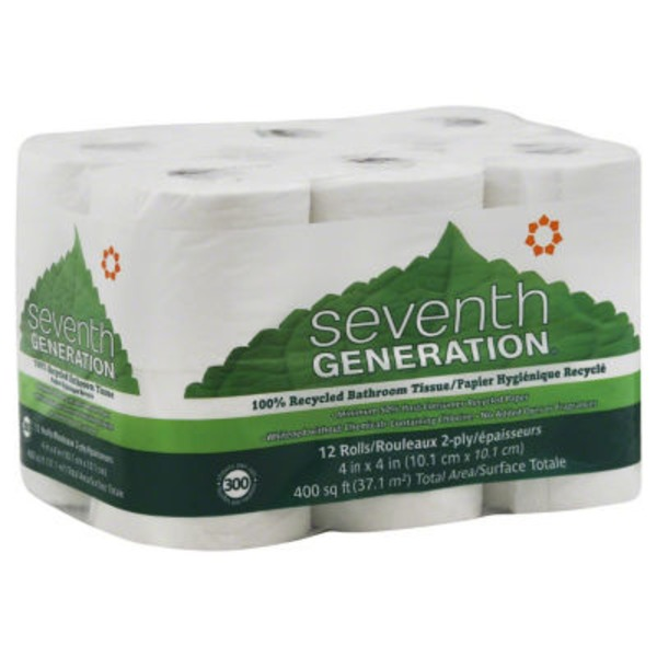 Seventh Generation 2-Ply 100% Recycled Bathroom Tissue