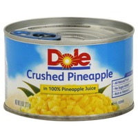 Dole Canned Fruit Crushed In 100% Pineapple Juice Pineapple
