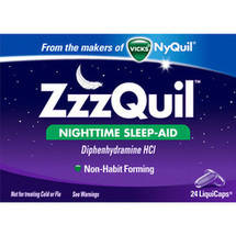 Vicks Zzzquil Nighttime Sleep-Aid Liquidcaps