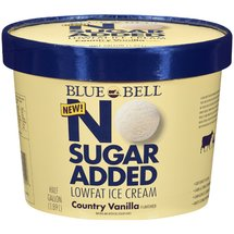 Blue Bell No Sugar Added Lowfat Country Vanilla Ice Cream