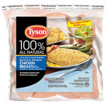 Tyson 100% Natural Boneless Skinless Chicken Breasts