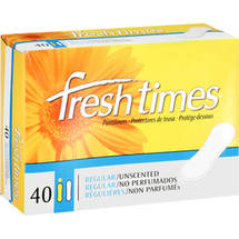 Fresh Times Regular Unscented Pantiliners