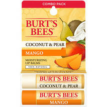 Burt's Bees Lip Balm Coconut and Pear Mango Butter Blister Box