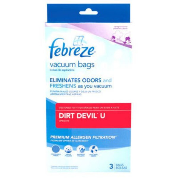 Febreze Vacuum Bags Dirt Devil U - 3 CT