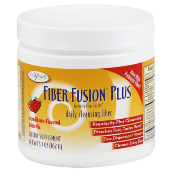 Enzymatic Therapy Fiber Fusion Plus, Drink Mix, Incrediberry-Flavored
