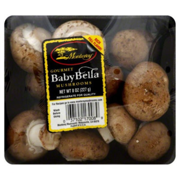 Monterey. Whole Baby Bellas Mushrooms
