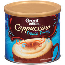 Great Value French Vanilla Cappuccino Beverage Mix
