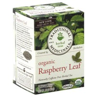 Traditional Medicinals Organic Raspberry Leaf Herbal Tea, Caffeine Free