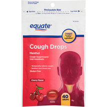 Equate Menthol Cherry Flavor Cough Drops