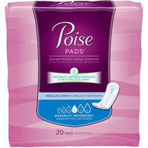 Poise Absorbent Product Incontience Pads