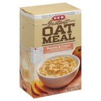 H-E-B Instant Oatmeal Peaches And Cream