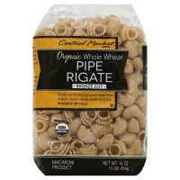 Central Market Organic Whole Wheat Pipe Rigate Bronze Cut Pasta