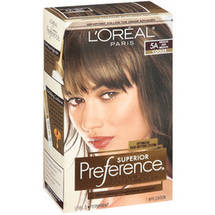 L'Oreal Paris Superior Preference Fade Defying Color and Shine System Medium Ash Brown 5A
