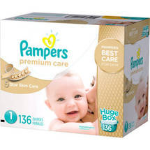 Pampers Premium Care Disposable Diapers Huge Box Size 1