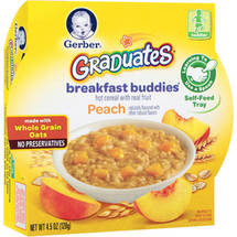 Gerber Graduates Breakfast Buddies Peach Hot Cereal with Real Fruit