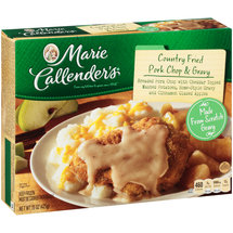 Marie Callender's Country Fried Pork Chop w/Cheddar Bacon Mashed Potatoes/Gravy & Vegetables Meal