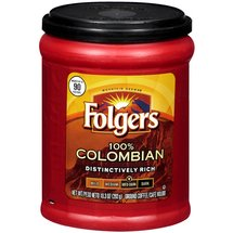 Folgers 100% Colombian Medium - Dark Roast Ground Coffee