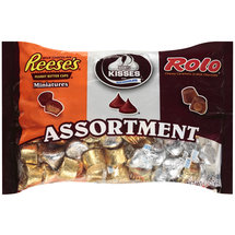 Hershey's Reese's Miniatures/Hershey's Kisses/Rolo Caramels Assortment