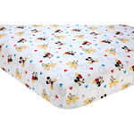 Disney Let's Go Mickey Mouse Crib Sheet
