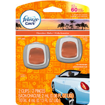 Febreze Car Vent Clips Hawaiian Aloha Air Freshener