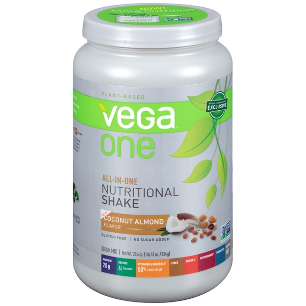 Vega One All-In-One Nutritional Shake Coconut Almond Flavor Drink Mix