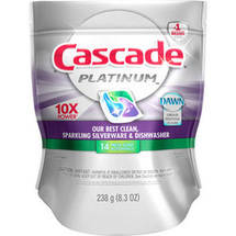 Cascade Platinum Fresh Scent ActionPacs Dishwasher Detergent